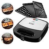 Russell Hobbs Multifunktionsgerät 3-in-1 Fiesta (Sandwich Maker, Waffeleisen, Kontaktgrill), spülmaschinengeeignete & antihaftbeschichtete Platten (erweiterbar: Cake Pop, Mini Donut, Churros) 24540-56